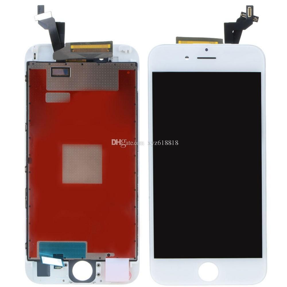 Klasa A +++ Wyświetlacz LCD dotykowy Digitizer Kompletny ekran z ramką Pełna wymiana montażu dla iPhone 6 6S 6 plus 6s plus darmowa wysyłka