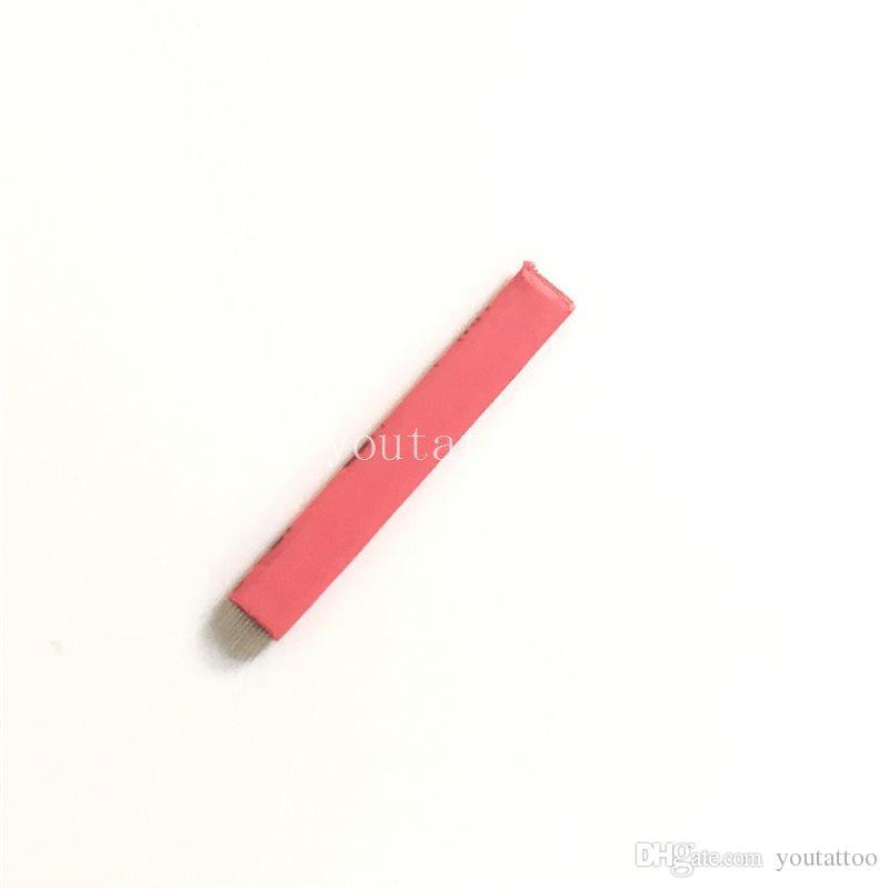 500 шт Красный U-образный макияж Microblading брови татуировки постоянного ручного лезвия 12 иглы