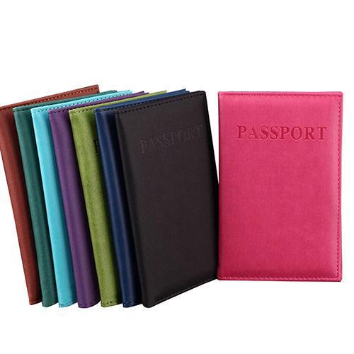Mode Faux En Cuir Voyage Passeport Titulaire Couverture Carte D'identité Couverture Sac Passeport Portefeuille Pochette De Protection Sac De Rangement