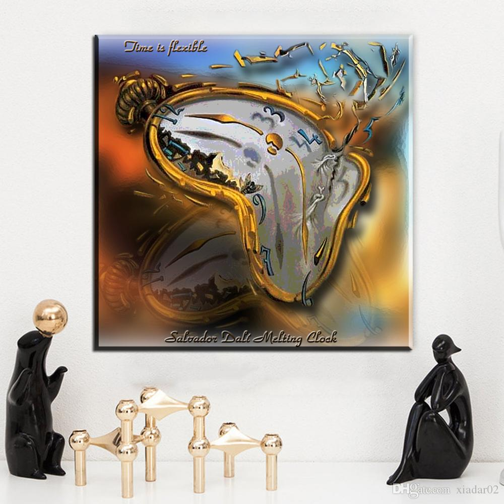 ZZ2042 modern abstract canvas art Melting Watch, 1954 by Salvador Dali canvas pictures oil art painting for livingroom bedroom