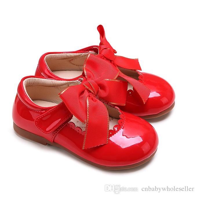 2019 Acheter Cuir En La Rouge À Chaussures À Enfants Chaussures Pettigirl Microfibre En Pour Bébé Main Habillées Filles Chaussures Sans Boîte 4Ajc5RL3q