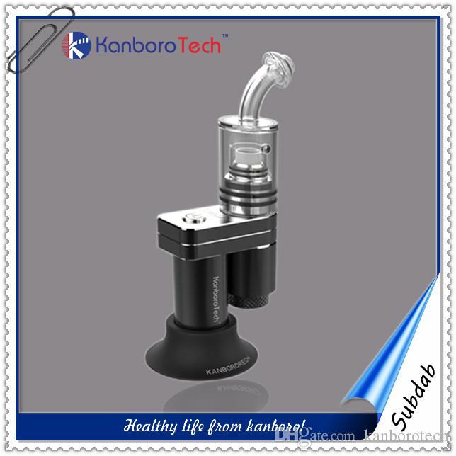 Kanboro 510 tırnak konu kutusu mod için kullanın en iyi balmumu renkli atomizer Özel etiket e ciga seramik bobin subdab 18350 cam sigara cihazı