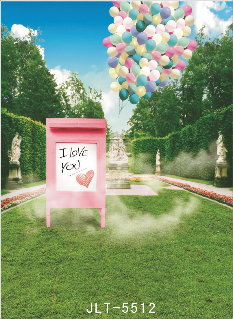 Frühling Garten Zeichen Bord Computer gedruckt Fotografie Kulissen Vinyl Tuch Hintergründe Foto für Hochzeit Kinder für Fotostudio