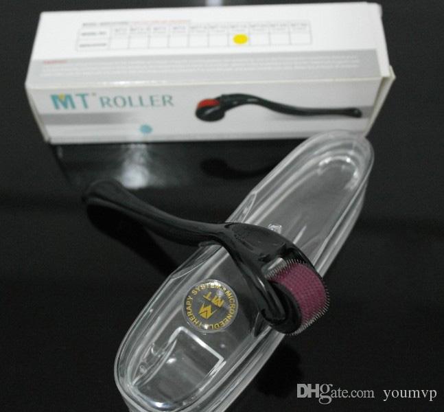 540 Micro Aiguille Titane Derma Rouleau MT Dermaroller Peau Rouleau Microneedle Peau Acné Thérapie pour la Beauté Faciale 0.2mm-3.0mm