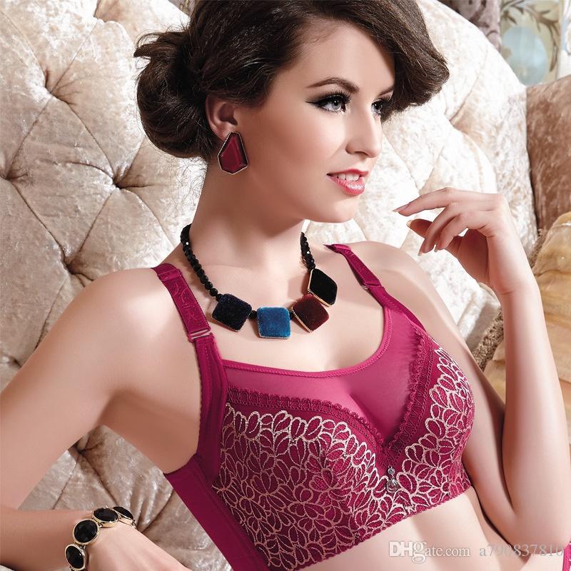 Femmes Sexy brasserie grande taille dentelle sous-vêtements Push Up soutiens-gorge, e 80 85 90 95 100 B C D lingerie lingerie féminine WC001