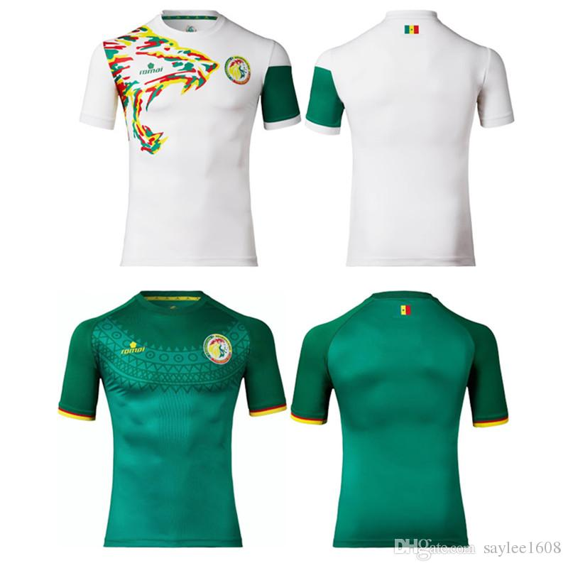 buy popular 97bd2 3c1d3 2018 Top Thai Quality Jerseys 2016 17 Senegal Home Away Soccer Jerseys  White And Green Men Football Shirts Ee 1230 From Saylee1608, $16.09 | ...