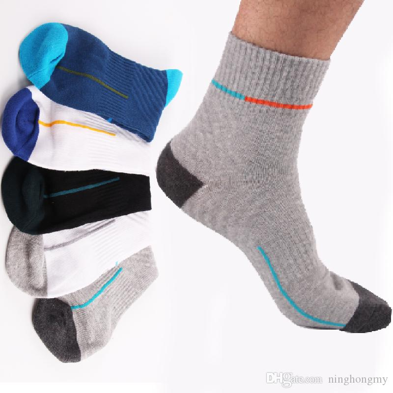 New patter hot men's socks wholesale quality 80% cotton Fashionable leisure breathable deodorant 5-color short pressure socks free shipping