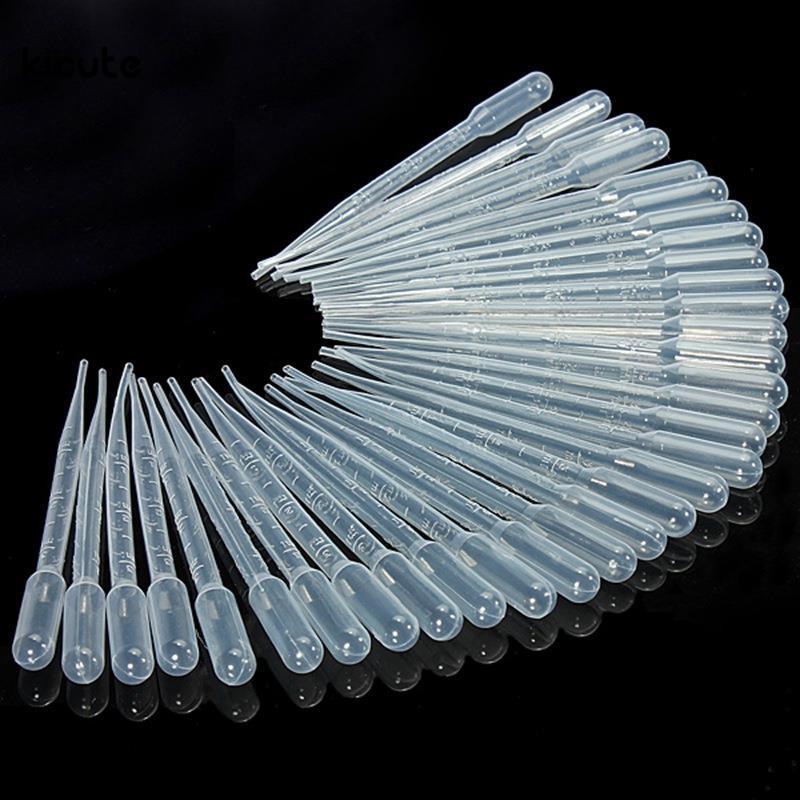 100 pz / set 3 ml pipette trasparenti monouso in plastica sicura contagocce trasferimento pipette graduate per esperimenti di laboratorio