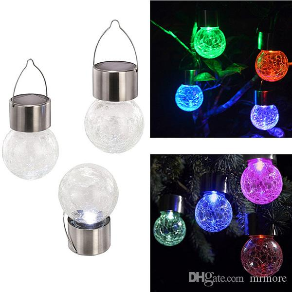 led Solar Power LED Light Waterproof Color Changing LED lamp Ball Lighting Outdoor Hanging Garden Light Countryard Decoration