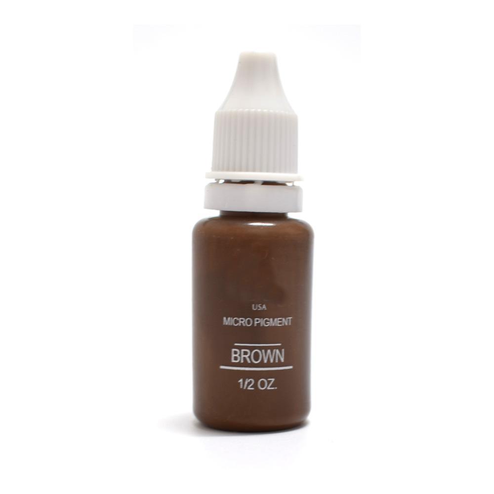 All'ingrosso non si sbiadiscono l'inchiostro del tatuaggio professionale Microblading trucco permanente Micro Pigment Sopracciglio Eyeliner Paint 1/2 oz 15ML Brown 3PCS
