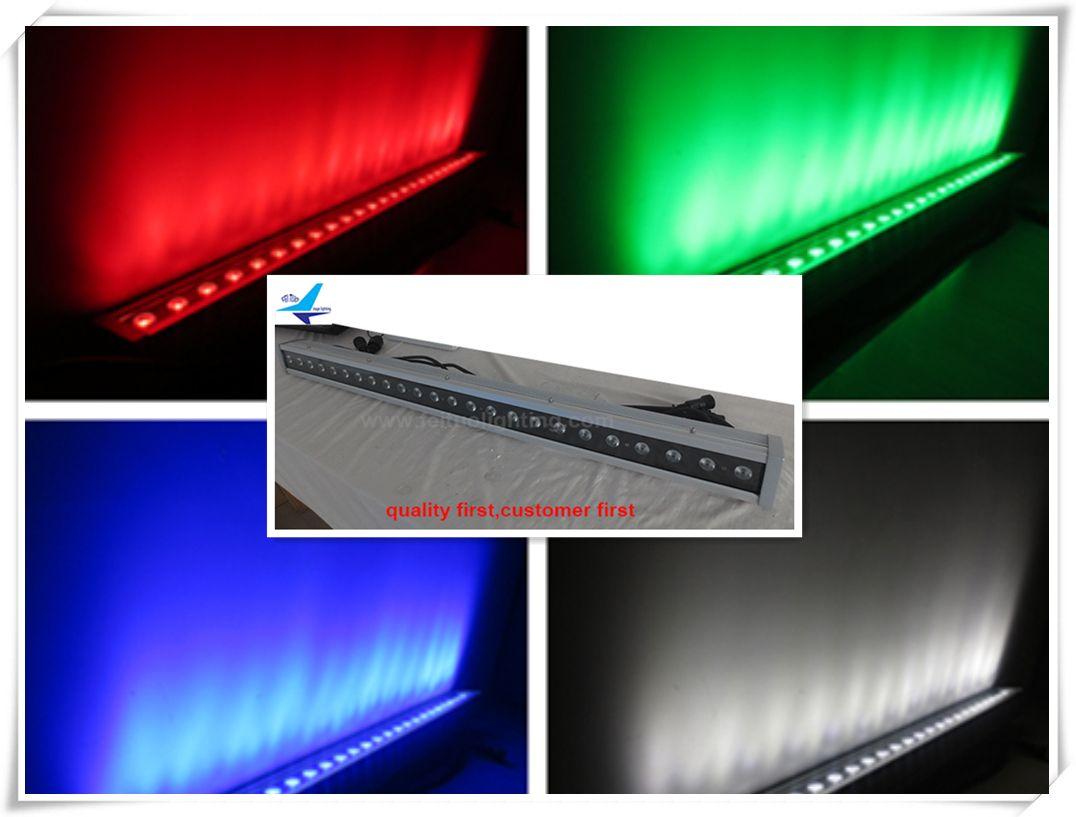 (2 pezzi / lotto) Cina mercato esterno di alta qualità luce di lavaggio a led 24x10 w rgbw 4in1 wall washer, dmx rgbw wall washer