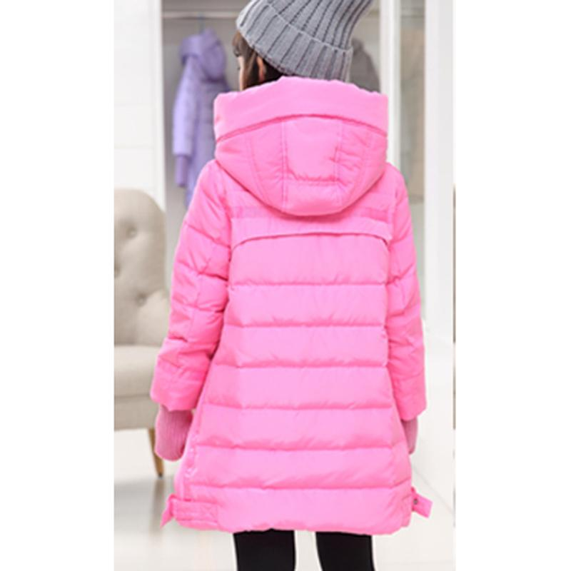 Girls Winter Coats Long Thick Warm Down Teenage Winter Jacket For Children 2016 pping AP0400