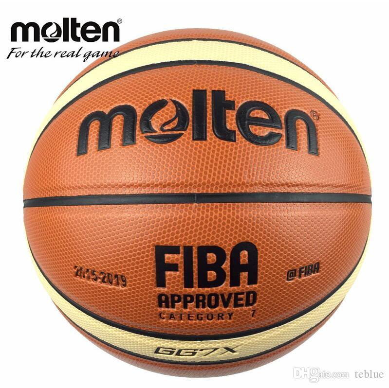 Offical Size 7 Molten GG7X Basketball PU Leather Basketball Ball Outdoor Indoor Training Ballon Free With Mesh + Needle