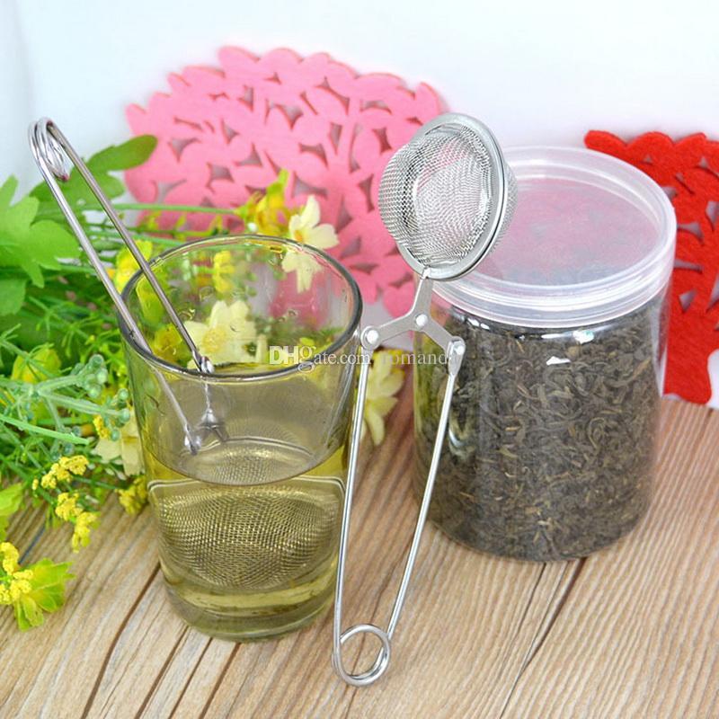 Новый Нержавеющей Стали Чайник Infuser Сфере Сетки Ситечко Для Чая Чайные Шарики 4.5 см DHL Доставка Бесплатно
