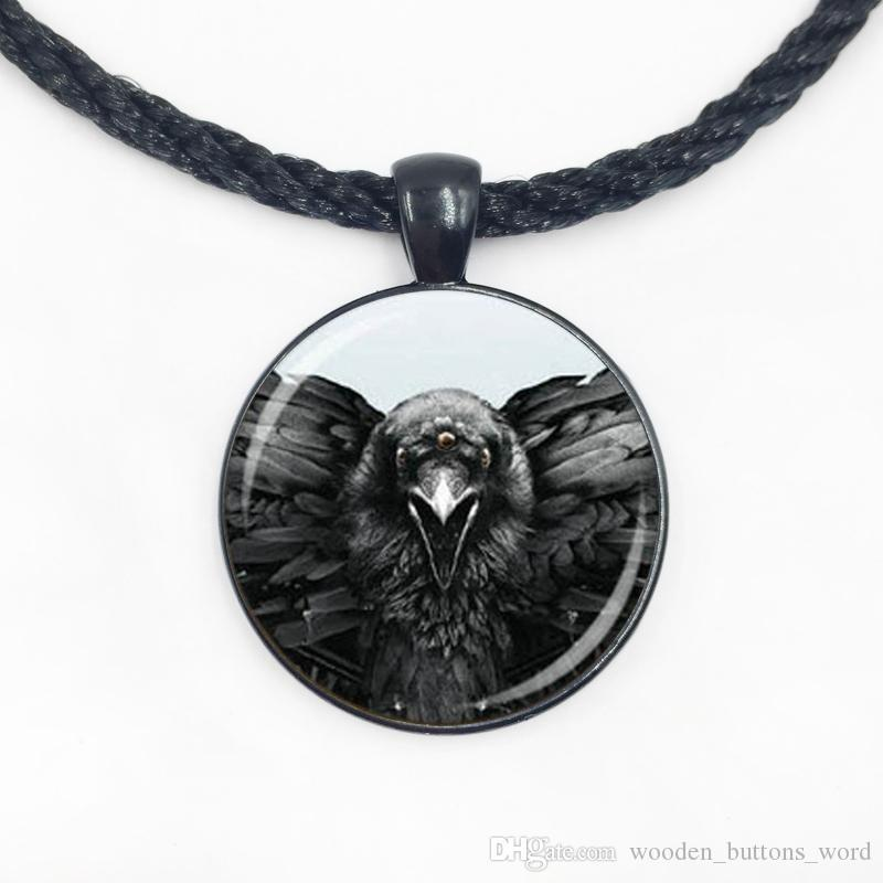 Wholesale Glass Dome pendant Game of Thrones neckalce Eagle Necklace glass dome pendant handmade jewelry