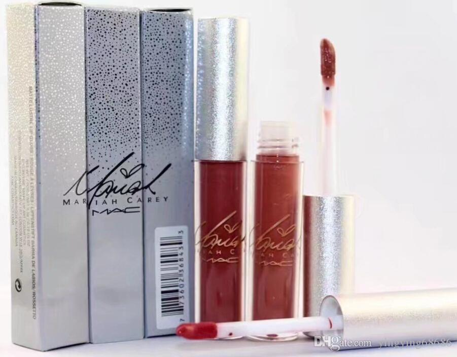 Free Shipping New Makeup Lips Silver Box Matte Liquid Lipstick Non-Stick Cup Lip Gloss!12 Different Colors(12pcs/lot)