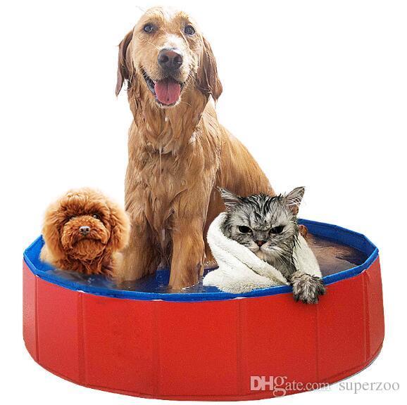 Pet ürünleri Büyük Köpek Için Büyük PVC Katlanabilir Yüzme Havuzu Küvet Kedi Kitten Teddy