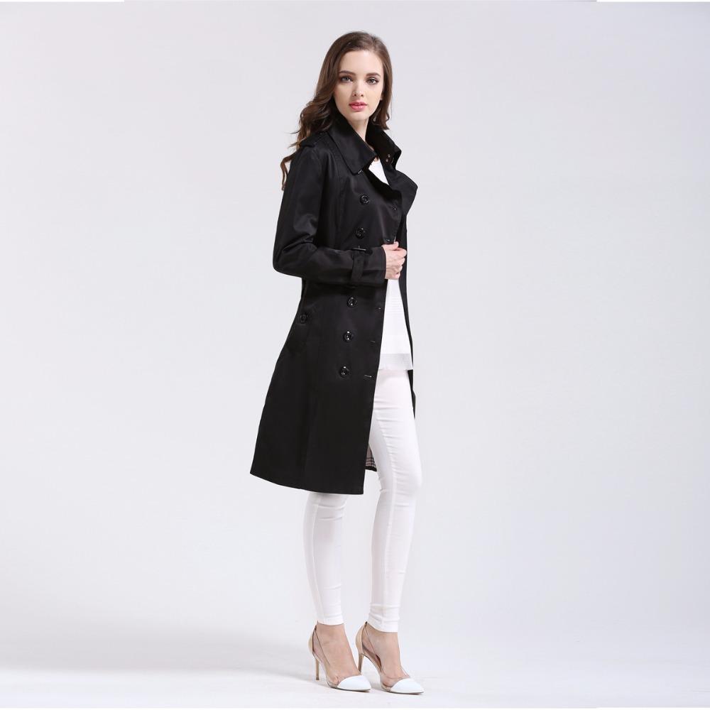 Großhandel British Style Trench Mantel Für Frauen 2016 Neue Damenmäntel Frühling Und Herbst Doppelt Knopf Over Mantel Lange Plus Größe XXL Von
