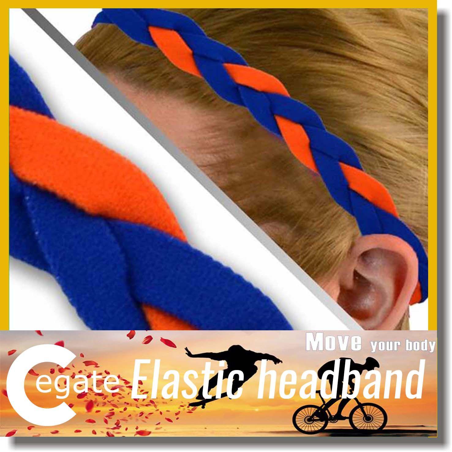 2016 Hot sale Slip Fashion Braided Yoga Headband Sports Elastic Braided Headband for women girl free shipping