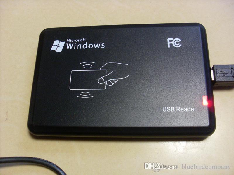 Sensore di prossimità USB nero 125KHz Smart card ID lettore RFID EM4100, EM4200, EM4305, T5577 o tag di schede compatibili senza bisogno di driver