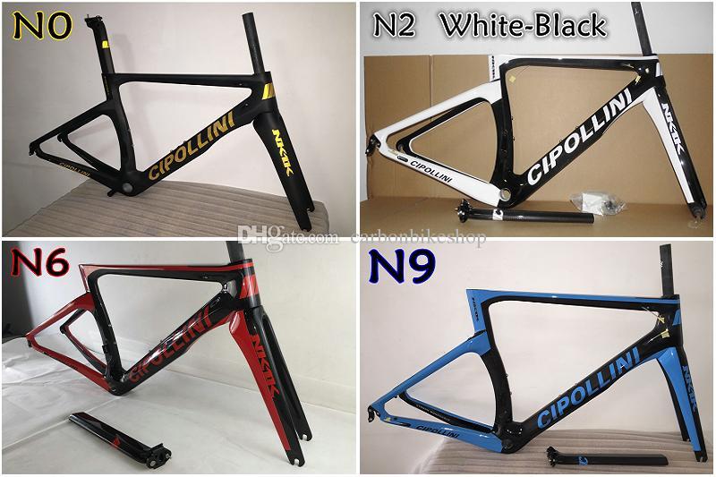 Top sale 4 Models T1000 3K/1K Cipollini NK1K carbon road bike frames with XXS/XS/S/M/L BB30/BB68 free shipping