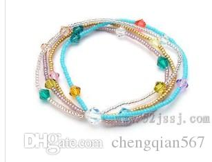 colorful beads chain lady's bracelet (ming)