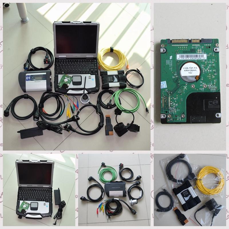 meilleur outil pour BMW Icom suivante pour mb étoiles c4 2in1-outil de diagnostic avec le dernier hdd installé dans un ordinateur portable militaire CF30 teamviewer