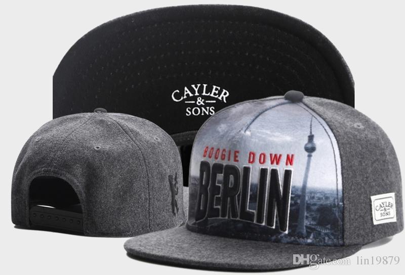 2017 New Fashion Cayler & Sons boogie down BERLIN Snapback Caps gorras bones Adjustable Gorras Hip Hop Casual Baseball Hats for Men Women