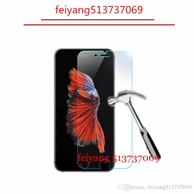 50pcs 9H 2.5D Verre Trempé Antidéflagrant Protecteur D'écran Film pour iPhone 8 5 5s 5c 6 6s 4s 4 7 plus
