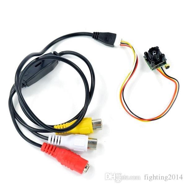 """HD 700TVL البسيطة الثقب الدوائر التلفزيونية المغلقة الكاميرا 4 المصابيح للرؤية الليلية الأمن مايكرو كاميرا 1/4 """"CMOS الاستشعار اللون الصوت مسجل فيديو"""
