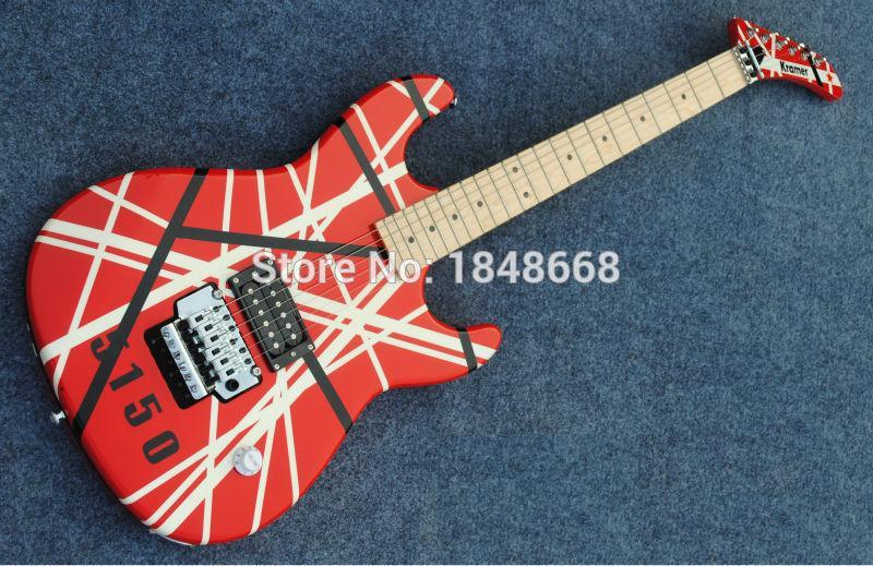 The Kramer 5150 Eddie Van Halen Electric Guitar With Floyd Rose Good Electric Guitars Acoustic Electric Guitar From Acoustic Guitars 216 09 Dhgate Com