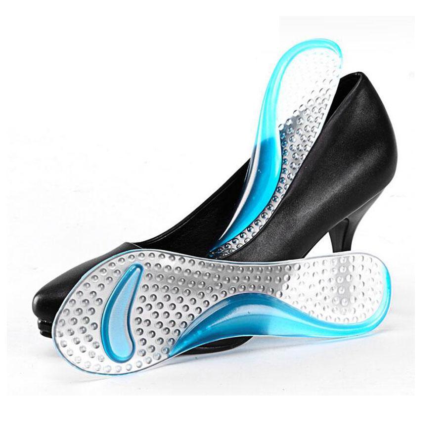 1 Paar Soft Gel Einlegesohle 3/4 Lady Schuh Pad Mit Rutschfeste Arch Support Und Kissen Orthesen Fußpflege Werkzeug Massager Waschbar C591