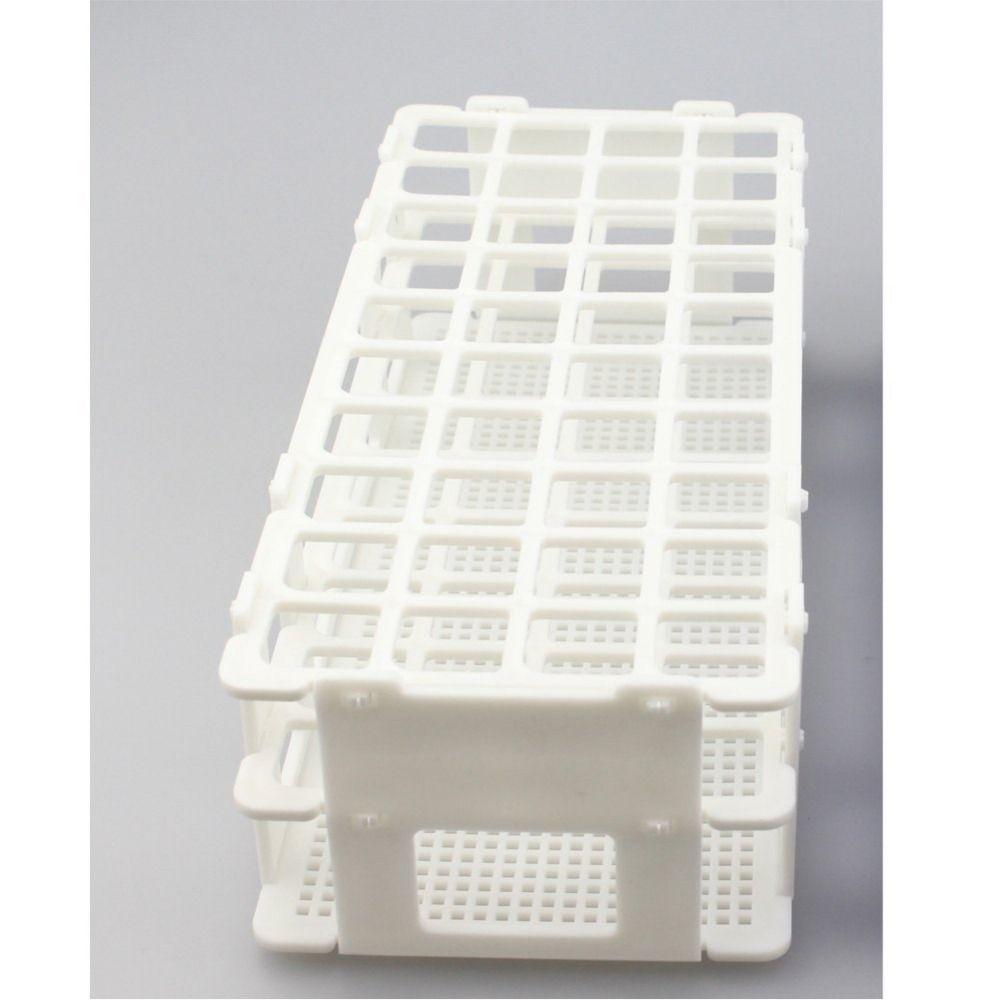 20mm, 40 Wells, Beyaz, Ayrılabilir (40 Delik), tüp kutu için Plastik Test Tüpü Rack.