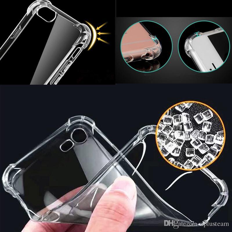 Crystal Gel Gasbag High Clear чехлы для Samsung S8 S8 plus iPhone 6s 7 Примечание 5 ультра-тонкий прозрачный мягкий ТПУ задняя крышка кожи противоударный