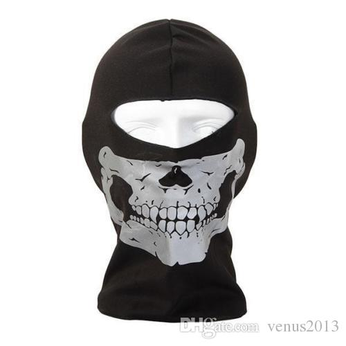 NEW CS Cosplay Ghost Skull Black Full Face Mask Motorcycle Biker Balaclava Breathing Dustproof Windproof mask Skiing sport masks