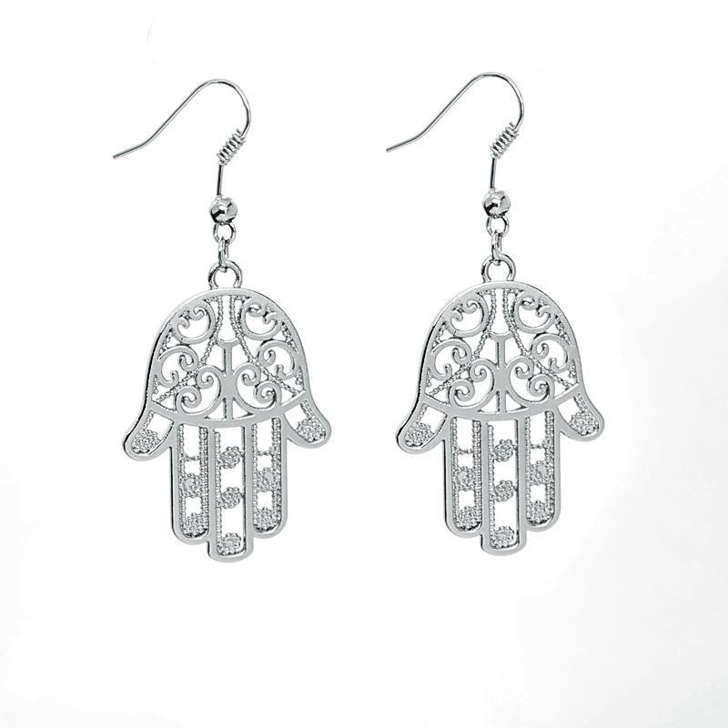 Free shipping Fashion Jewelry New Arrivals Charm Drop Earrings For Women Hamsa Hand Fatima Palm Dangle