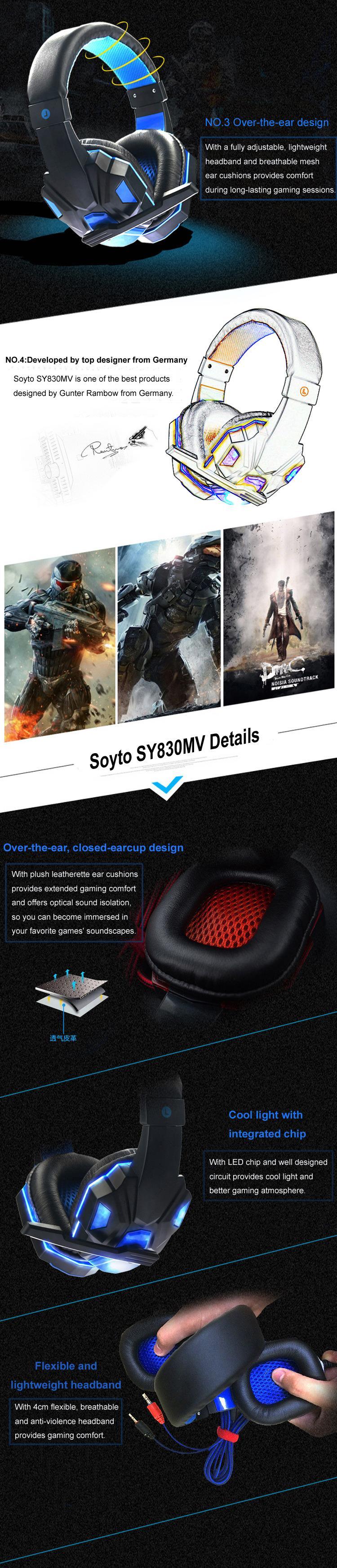 Großhandel NEUE SY830MV Computerspiele Kopfhörer Headset Internet ...