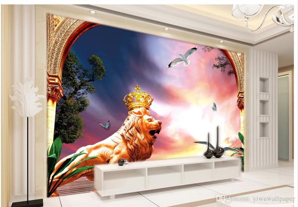 Carta da parati personalizzata 3d stile europeo piccioni piccioni sfondo muro murale carta da parati 3d wallpaper classico per pareti