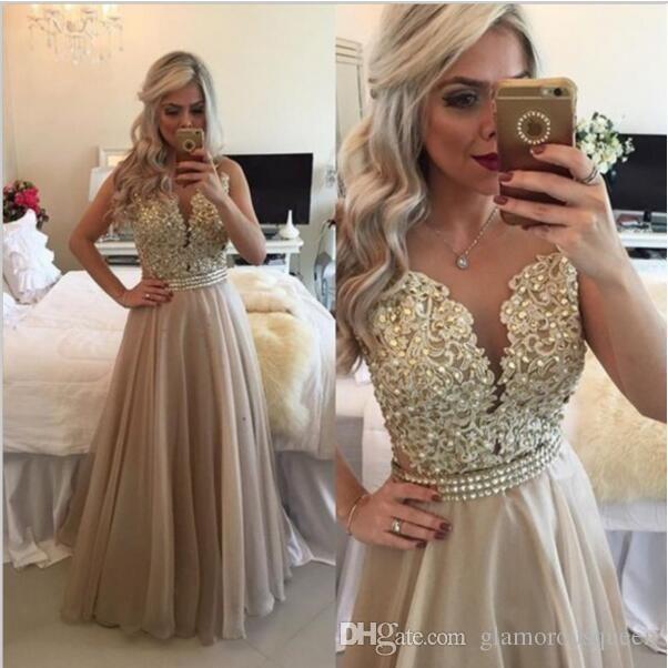 Compre Vestido Púrpura Lavanda Vestidos De Dama De Honor Vintage Hermoso Talla Grande Oro Vestidos De Baile Mujeres Largas Vestidos De Noche Precio