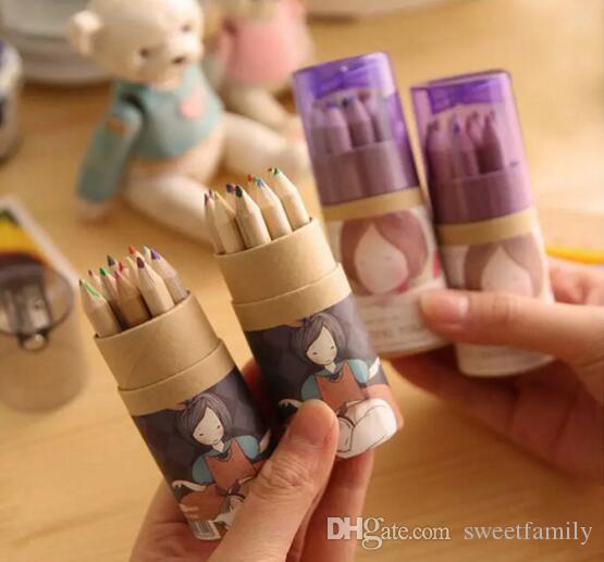 Secret Garden Coloring Pencils Enchanted Forest Painting Pens Colored Pencils Creative Writing Tools 12 colors Colouring Pencils