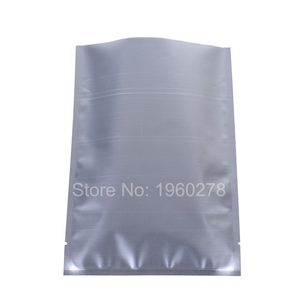 """14x20см (5.5x7.75 """") Серебро 3 MIL водонепроницаемый трехстороннее уплотнение упаковочная сумка сумка с открытым верхом упаковочные пакеты Алюминиевая фольга"""