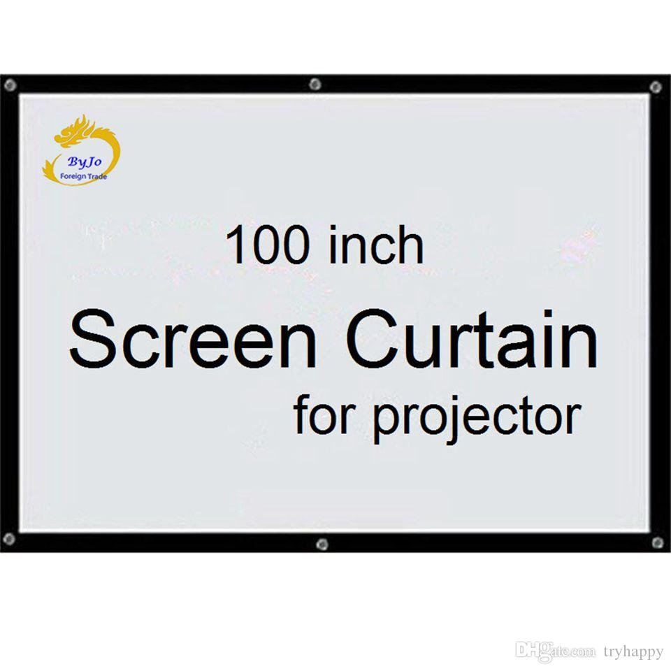 Screen Curtain100 inch 16:9 or 4:3 Projector HD Screen Front projection screen fabric with eyelets for projector