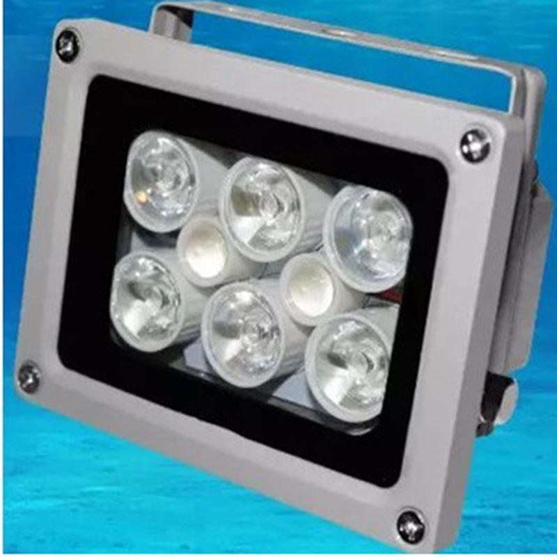 Haute Éclairage Imperméable à l'eau 50m DC 12 V 2A illuminateur Fill Assist Night Vision infrarouge 8 LED IR Lumières pour CCTV Caméra de Sécurité
