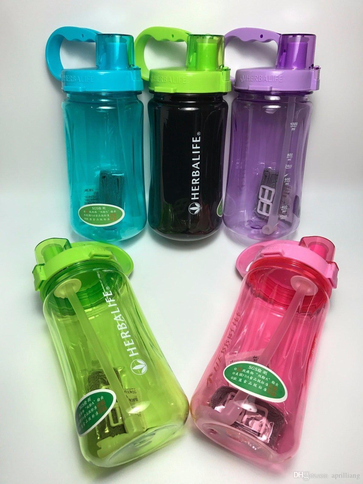 1000ML/32OZ Outdoor Sports Multicolor Herbalife Shake Water Bottle Cup Tritan Nutrition Camping Portable Black Pink Blue Green Orange Clear