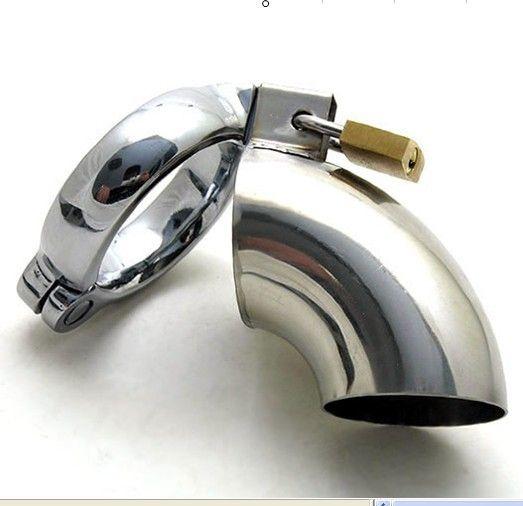 最新の男性のオープンタイプのステンレス鋼のコックペニスケージボンデージ貞操ベルトデバイス成人BDSMゲイフェチセックス玩具商品