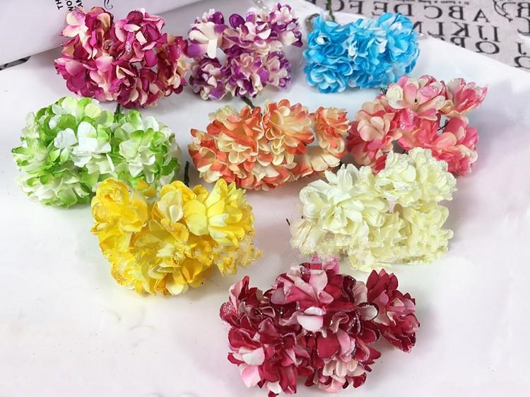 Artificial Paper Bouquet flower for Wedding Decor Candy Box Flowers Accessories for Table Centerpieces 144pcspack (9)