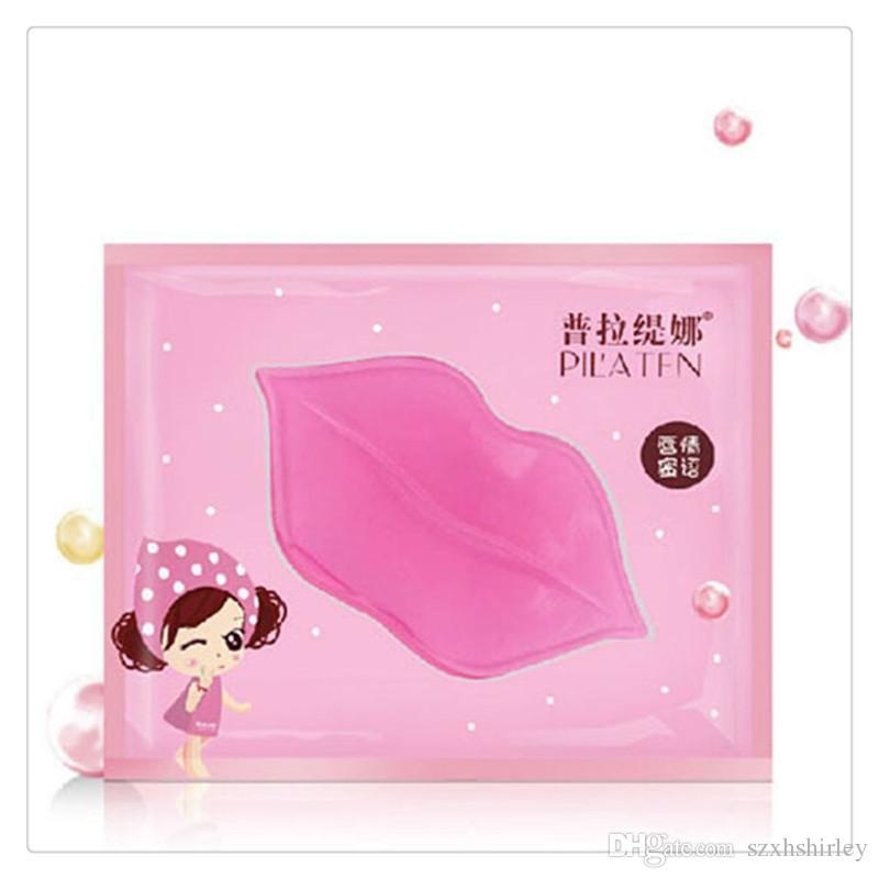 Lips Masks Lip Care PILATEN Authorized Collagen Crystal Moisturizing Anti Aging Anti Wrinkle Lip Care Mask Skin Care Tools Free Shipping
