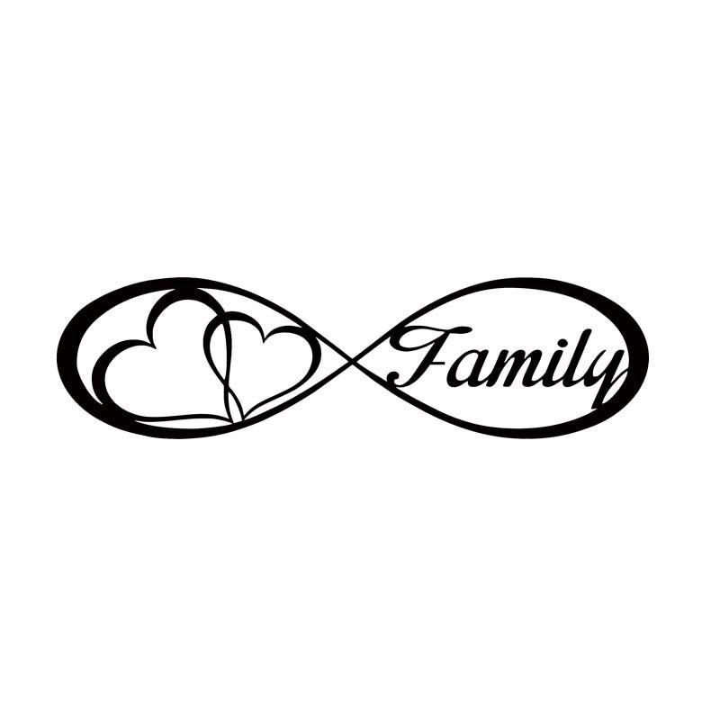 Per Infinity Famiglia amore cuore per sempre Symbol Car Styling decalcomania del vinile Jdm Car Window Adesivo Accessori Decorare Art