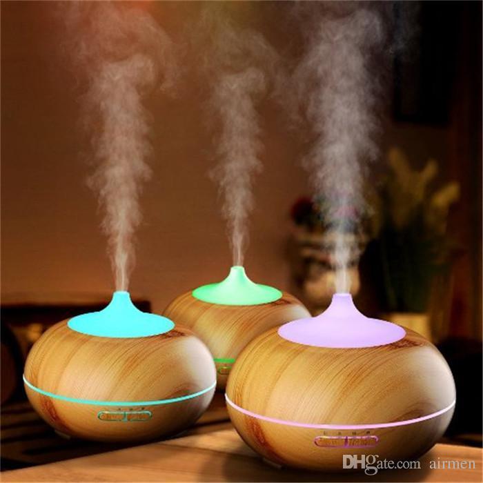 New 300ml Aroma Essenziale Diffusore Olio Diffusore in legno Grano ad ultrasuoni Cool Nebbia Umidificatore per ufficio casa camera da letto soggiorno yoga spa tappo dell'acqua