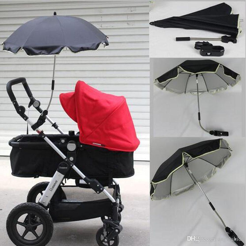 Baby Sun umbrellas Parasol Pram Pushchair Protect Sun Rain Universal UV 360 Degrees Adjustable Direction Pram Umbrella Umbrella Stroller